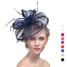 Damer' Klassisk stil Batist med Fjäder Fascinators