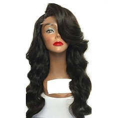 4A Non remy Body Wavy Human Hair Lace Front Wigs