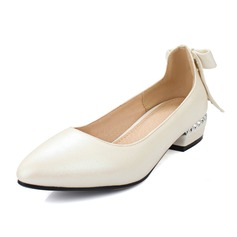 Women's Leatherette Low Heel Closed Toe shoes (086092177)