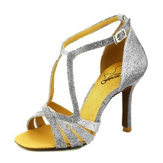 Women's Sparkling Glitter Heels Latin Dance Shoes (274195016)