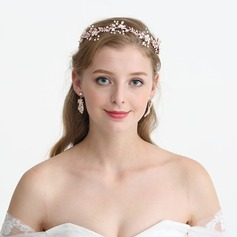 Ladies Gorgeous Rhinestone/Alloy/Imitation Pearls Headbands With Rhinestone/Venetian Pearl (Sold in single piece)