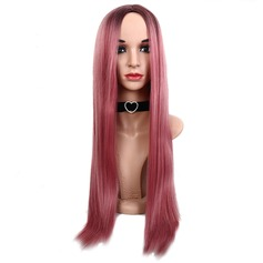 Straight Synthetic Hair Capless Wigs 260g