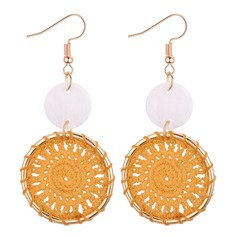 Fashional Copper Shell Ladies' Fashion Earrings