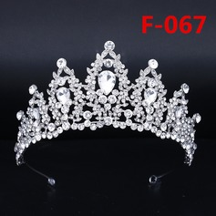 Ladies Amazing Alloy Tiaras With Rhinestone (Sold in single piece)