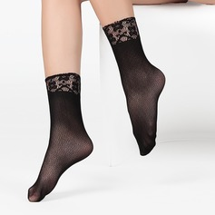 Lace Top Velvet Liner Socks (Set of 6) (107124070)