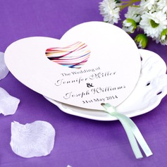 Personalized Heart Shaped Paper Hand Fans