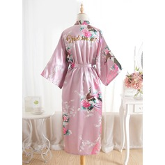 Silk Bride Bridesmaid Glitter Print Robes (248176093)
