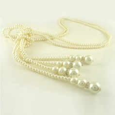 Gorgeous Imitation Pearls With Rhinestone Ladies' Fashion Necklace