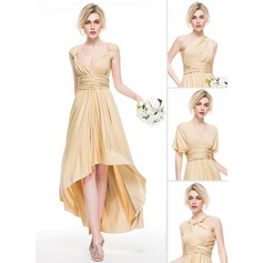 A-Line/Princess Asymmetrical Jersey Prom Dress With Ruffle