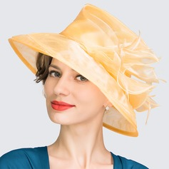 Ladies' Beautiful Spring/Summer Organza With Bowler/Cloche Hat