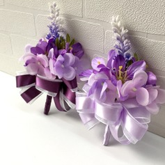 Attractive Artificial Silk Flower Sets (set of 2) - Wrist Corsage/Boutonniere
