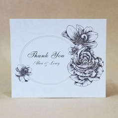 Personalized Lovely Rose Hard Card Paper Thank You Cards