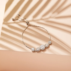 Non-personalized Ladies' Beautiful Zircon Bracelets For Her