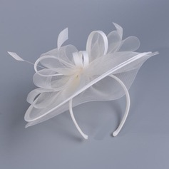Senhoras Lovely Cambraia com Pena Fascinators/Kentucky Derby Bonés (196208984)
