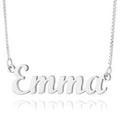 Sterling Silver Script Two Name Necklace - Birthday Gifts