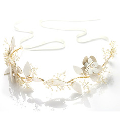 Ladies Exquisite Alloy/Leatherette Headbands With Pearl