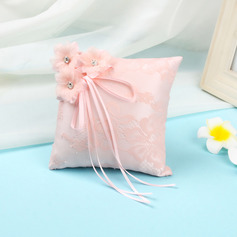 Lovely Cloth Ring Pillow With Ribbons/Lace/Artifical Flower