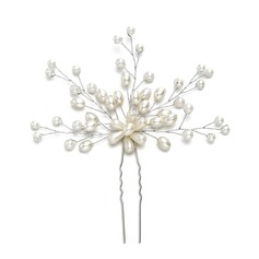 Ladies Lovely Imitation Pearls Hairpins With Venetian Pearl (Sold in single piece)