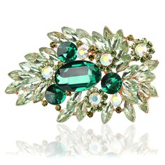 Alloy With Imitation Crystal Fashion Brooches (Sold in a single piece)