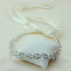 Ladies Pretty Satin Headbands With Rhinestone (Sold in single piece)