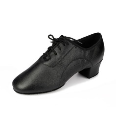 Men's Real Leather Heels Pumps Practice Dance Shoes