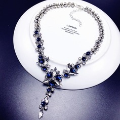 Exquisite Alloy Rhinestones Ladies' Fashion Necklace (137116965)