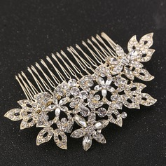 Ladies Elegant Rhinestone/Alloy Combs & Barrettes With Rhinestone (Sold in single piece)