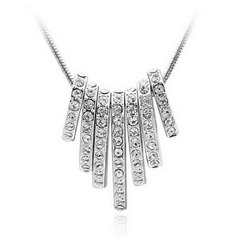Classic Alloy With Rhinestone Women's Necklaces