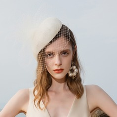 Ladies' Special/Glamourous/Elegant/Eye-catching Cambric With Tulle Fascinators