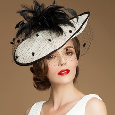 Ladies' Beautiful/Glamourous/Elegant/Eye-catching Cambric Fascinators