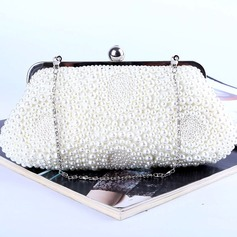 Girly Imitation Pearl Clutches/Satchel