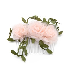 Ladies Special Silk Flower Combs & Barrettes With Venetian Pearl (Sold in single piece)