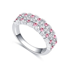 Beautiful Alloy/Crystal With Crystal Rings