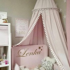 Cotton Canvas Dome Princess Bed Canopy Kids Play Tent Mosquito Net Children's Room Decorate for Baby Kids (Sold in a single piece)