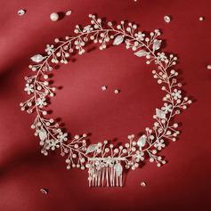 Ladies Beautiful Crystal/Rhinestone/Imitation Pearls Combs & Barrettes/Headbands With Venetian Pearl/Crystal (Sold in single piece)