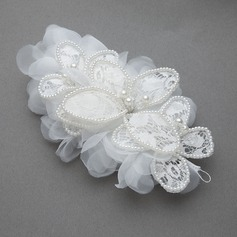 Elegant Artificial Silk/Lace Flowers & Feathers