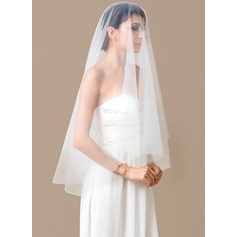 One-tier Waltz Bridal Veils With Cut Edge (006066075)