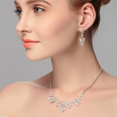 Classic Rhinestones With Rhinestone Ladies' Jewelry Sets