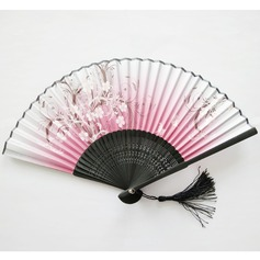 Floral Design Bamboo Hand fan