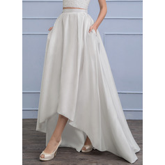 Separates Asymmetrical Taffeta Wedding Dress
