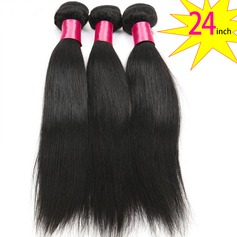 24 inch 8A Grade Brazilian Straight Virgin human Hair weft(1 Bundle 100g)