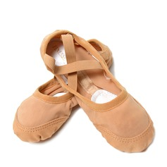 Women's Canvas Mesh Flats Ballet Dance Shoes