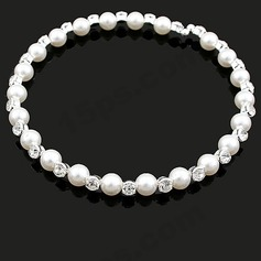 Beautiful Alloy/Pearl With Rhinestone Women's Necklaces