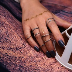 Simple Alloy Ladies' Fashion Rings (Set of 8)