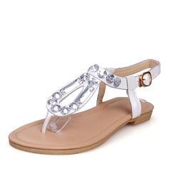 Frauen Echtleder Flascher Absatz Sandalen Flache Schuhe Peep Toe Slingpumps mit Schnalle Schuhe