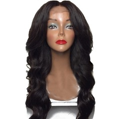 5A Virgin/remy Loose Wavy Human Hair Lace Front Wigs 260g