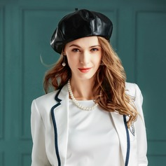 leather Bowler/Cloche Hat