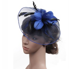 Ladies' Classic Linen With Feather Fascinators