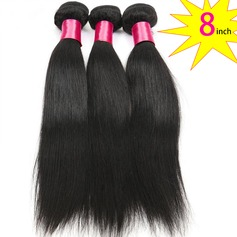 8 inch 8A Grade Brazilian Straight Virgin human Hair weft(1 Bundle 100g)