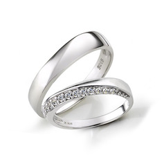Sterling Silver Cubic Zirconia Round Cut Couple's Rings (289229815)